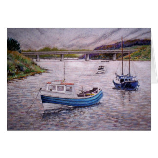 Boats on The Wansbeck Greetings Card