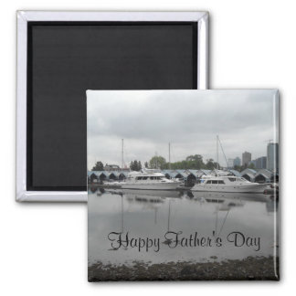 Boats on the Water 2 Inch Square Magnet