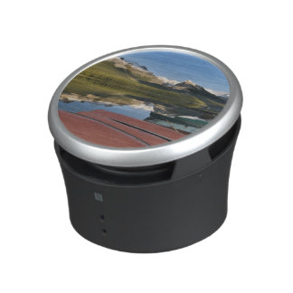 Boats parked on the lakeshore of Maligne Lake, Bluetooth Speaker