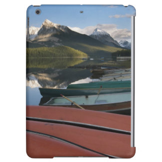 Boats parked on the lakeshore of Maligne Lake, iPad Air Cases