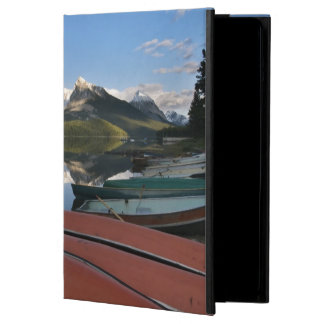 Boats parked on the lakeshore of Maligne Lake, iPad Air Cover