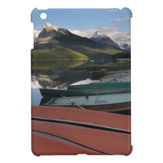 Boats parked on the lakeshore of Maligne Lake, iPad Mini Case
