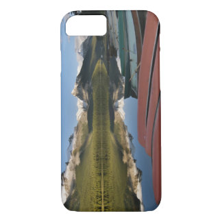 Boats parked on the lakeshore of Maligne Lake, iPhone 8/7 Case