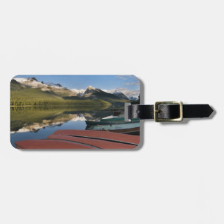 Boats parked on the lakeshore of Maligne Lake, Luggage Tag