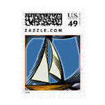 Boats postage stamp