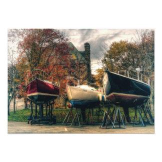 Boats Ready For Winter Cape Breton Island Photographic Print