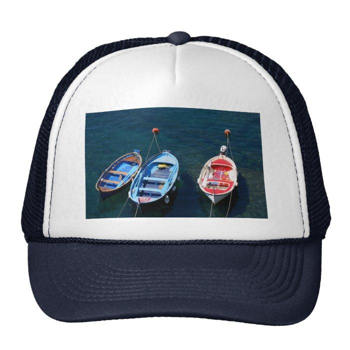Boats Riomaggiore harbour Trucker Hat