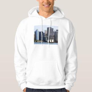 Boats - Schooner Against the Manhattan Skyline Hoodie