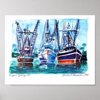Boats-Tarpon-Springs Poster
