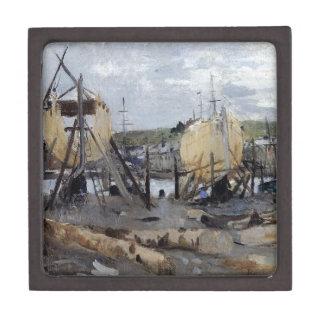 Boats under Construction by Berthe Morisot Gift Box