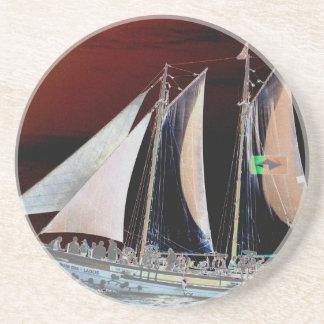 Boats under Sail Drink Coaster