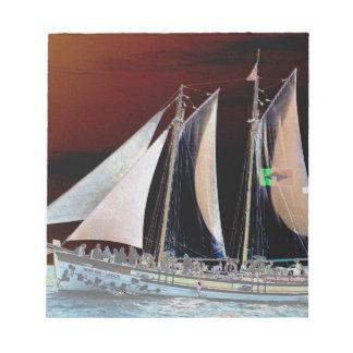 Boats under Sail Notepad