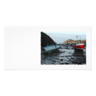 Boats. Watermouth, Devon, UK. Card