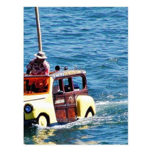 Boats Woody Woodies Postcard