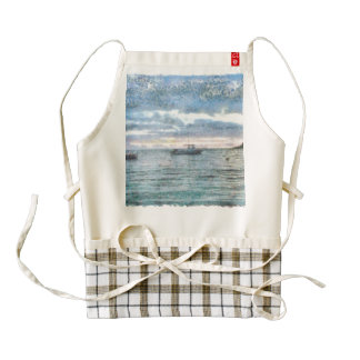 Boats Zazzle HEART Apron