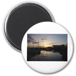 BoatsSunset041609 Refrigerator Magnets