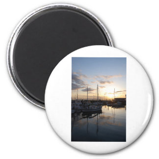 BoatsSunset041609a Magnets