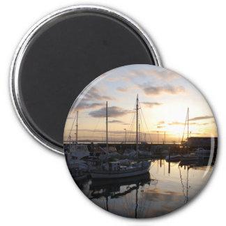 BoatsSunset041609a Refrigerator Magnet