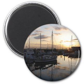 BoatsSunset041609b Refrigerator Magnets