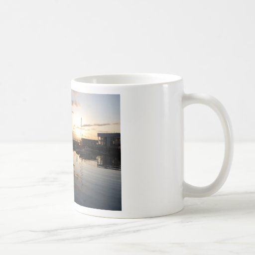 BoatsSunset041609b Taza De Café
