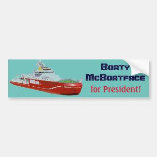 ¡Boaty McBoatface para el presidente! Pegatina Para Auto