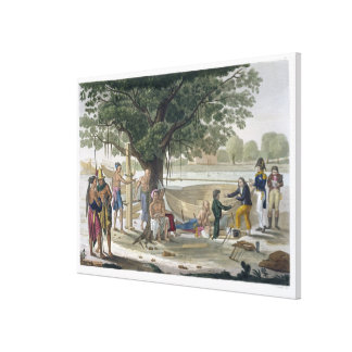 Boatyard near Kupang Timor plate 9 from Le Cost Canvas Prints