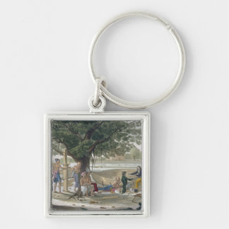 Boatyard near Kupang, Timor, plate 9 from 'Le Cost Keychain