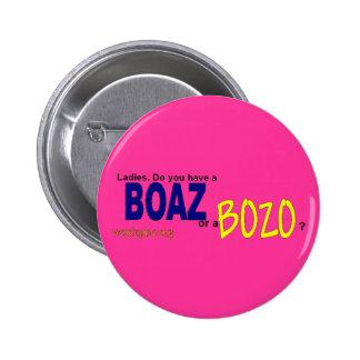 Boaz Botón-Rosado Pin