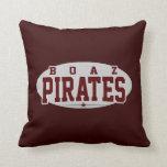 Boaz High School; Pirates Throw Pillows