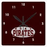 Boaz High School; Pirates Wall Clocks