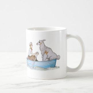 Bob and his Llama: The Fleecy Classic White Coffee Mug