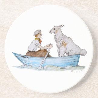 Bob and his Llama: The Fleecy Drink Coaster