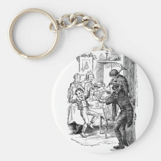 Bob and Tiny Tim Basic Round Button Keychain
