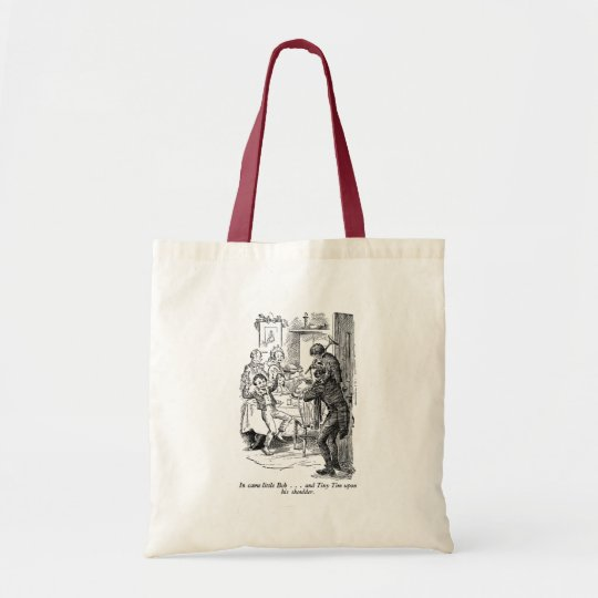 Bob and Tiny Tim (with text) Tote Bag