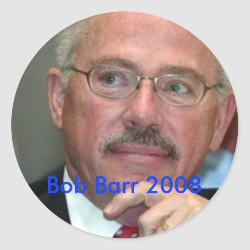 Bob Barr 2008 Pegatina