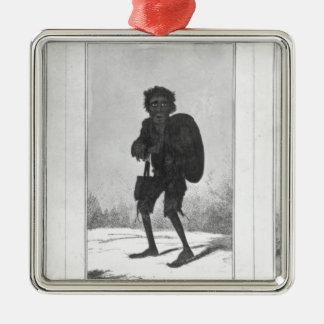 Bob bonito, Bob pobre, Bob Bandy, 1819 Adorno Cuadrado Plateado