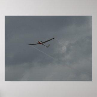 Bob Carlton flies the Super Salto Jet Sailplane. Print