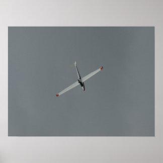 Bob Carlton flies the Super Salto Jet Sailplane. Posters