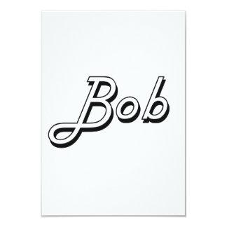 Bob Classic Retro Name Design 3.5x5 Paper Invitation Card