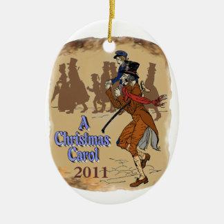 Bob Crachit and Tiny Tim Ceramic Ornament