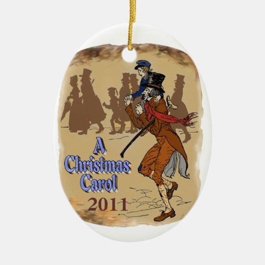 Bob Crachit and Tiny Tim Ceramic Ornament