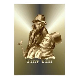 Bob Cratchit and Tiny Tim Christmas Carol Card