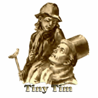 Bob Cratchit and Tiny Tim Christmas Carol Statuette