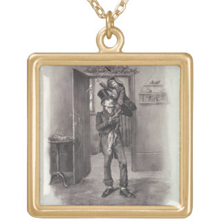 Bob Cratchit and Tiny Tim, from 'Charles Dickens: Gold Plated Necklace