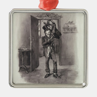 Bob Cratchit and Tiny Tim, from 'Charles Dickens: Metal Ornament