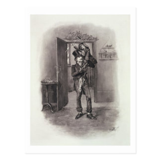 Bob Cratchit and Tiny Tim, from 'Charles Dickens: Post Cards