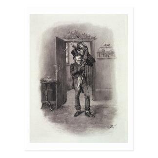 Bob Cratchit y Tim minúsculo, de 'Charles Dickens: Postal
