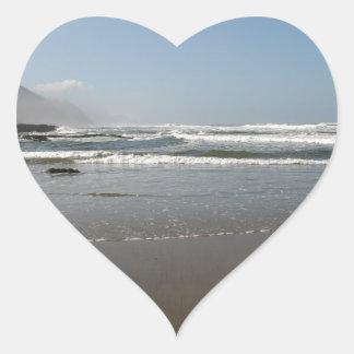 Bob Creek Beach Heart Sticker