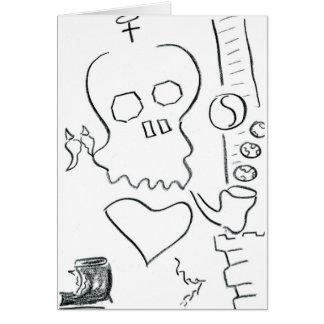 Bob Dobbs Skull Card