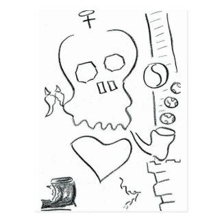 Bob Dobbs Skull Postcard